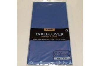 Amscan International Tablecover Plastic Rectangular (Flag Blue)