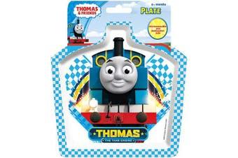 (Blue Square) - Thomas & Friends Racing Train Shaped Plate, Multi