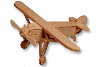 3-D Wooden Puzzle - Small Plane Model Louis -Affordable Gift for your Little One! Item #DCHI-WPZ-P073