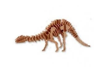 3-D Wooden Puzzle - Large Apatosaurus -Affordable Gift for your Little One! Item #DCHI-WPZ-BJ-005
