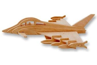 3-D Wooden Puzzle - Plane Model Euro Fighter Typhoon -Affordable Gift for your Little One! Item #DCHI-WPZ-P098