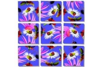 Scramble Squares LadyBugs 9 Piece Challenging Puzzle - Ultimate Brain Teaser and Mind Game for Young and Senior Alike - Engaging and Creative With Beautiful Artwork - By B.Dazzle
