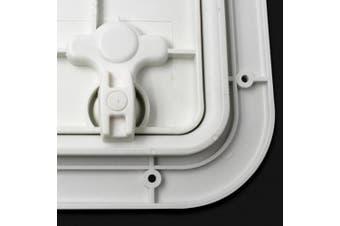 Baoblaze WHITE MARINE BOAT DECK ACCESS HATCH & LID 42.5cm x 31.5cm x 2cm