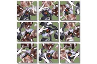 B Dazzle Bunnies Scramble Squares 9 Piece Puzzle