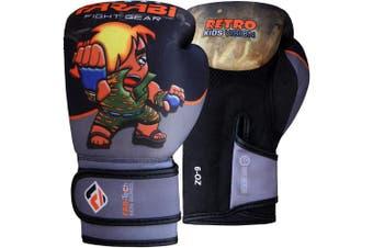 (60ml, Grey Black) - Farabi Boxing Gloves Kids Junior Muay Thai Kick Boxing Training MMA Punching Bag