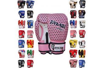 (120ml, Star Pink) - Farabi Boxing Gloves Kids Junior Muay Thai Kick Boxing Training MMA Punching Bag