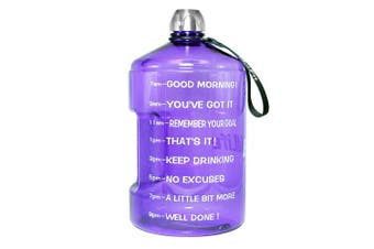 ( 3.8l, 1 gallon-Light purple) - BuildLife 3.8l Water Bottle Motivational Fitness Workout with Time Marker/Drink More Daily/Clear BPA-Free/Large 3790ml 2160ml 1270ml Capacity