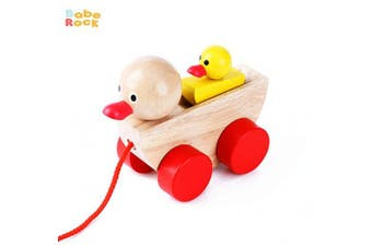 Babe Rock Pull Along Toys for . Classic Wooden Duck Pull Toy for Infant Toddler Boys and Girls