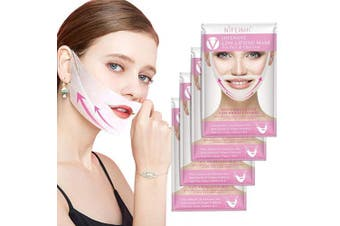 (4 Pcs V line mask) - V Line Mask Chin Up Patch Double Chin Reducer Chin Mask V Up Contour Tightening Firming Face Lift Tape Neck Mask V-Line Lifting Patches V Shape Face Lifting 4 pcs (V line mask) (V Line Mask) (4 PCS)
