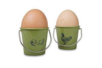 (Vintage Hens) - Eddington Vintage Set of 4 Egg Cup Buckets - Hen