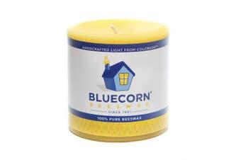 Bluecorn Beeswax 100% Pure Raw Beeswax Pillar: 7.6cm x 7.6cm