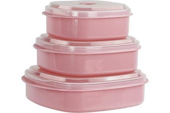 (Multiple Sizes, Pink) - Calypso Basics 6-Piece Microwave Cookware Set, Pink