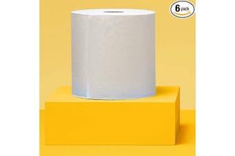 AmazonCommercial Hard Roll Towels, 240m per Roll, 6 Rolls