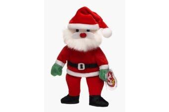 (Clear) - Santa the Jolly Elf - Ty Beanie Baby