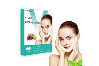 V Line Face Mask Neck Mask Chin Up Patch Face Lift Double Chin Reducer V-Line Face Lifting Brand Contour Tightening Firming Moisturising V Shape Chin Mask Neck Lift 5pcs