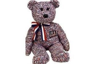 1 X TY Beanie Buddy - USA the Bear