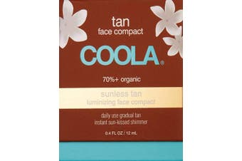 COOLA Organic Sunless Face Compact | Instant Shimmer | Gradual Tan | Certified Organic Ingredients | Transfer-Free | Fast Drying | Pina Colada