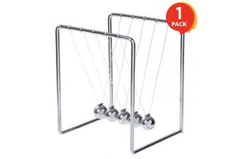 ArtCreativity Newton's Cradle | Stainless Steel Office Desk Decoration Metal Desk Toy with Reflective Finish | Fun Educational Science Learning Aid | Best Gift for Kids and Adults