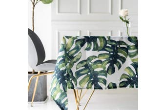 (55*99in/140*250cm) - Drizzle Table Cloth Monstera Leaf Plant Palm Tree Rectangular Square Folding Table Cover Waterproof Polyester Cotton Country Garden for Kitchen Furniture (55 * 99in/140 * 250cm)
