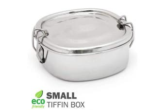 (Square Shape, Small Size) - Stainless Steel Lunch Box, Food Containers with Lock Clips & Inner Lid, Food Salad Snacks Storage Container for Kids and Adults (Square Shape)