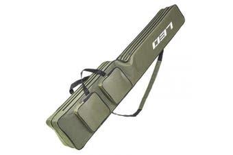(130cm, Green) - Lixada Fishing Tackle Bag Two Layer Large Capacity Folding Fishing Rod Carry Case Fishing Pole Storage Bag(120-150cm)