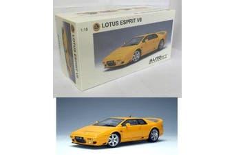 2004 Lotus Esprit V8 diecast model car 1:18 scale die cast by AUTOart - Yellow 75313