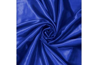 (5 Yards, Royal Blue) - Charmeuse Satin Fabric | 5 Yards Continuous | 150cm Wide | Silky, Bridal | Decoration, Fashion Crafts (Royal Blue, 5 Yd)