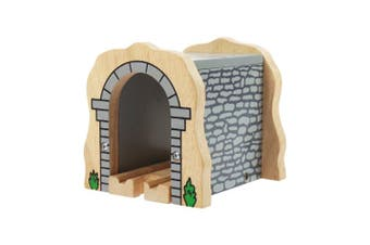 Wooden Grey Stone Tunnel
