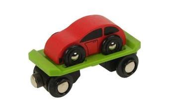 Bigjigs Single Wooden Train Rolling Stock (Car Carrier)