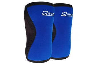 (Blue, XS) - Murgs Knee Sleeves Pair 7mm Compression Sleeve for Support in Crossfit, Weightlifting, Squats, Powerlifting, Knee brace for Men/Women