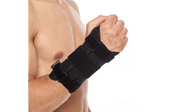 (S/M, Right Hand) - BraceUP Deluxe Wrist Stabiliser Support Brace with Aluminium Splint for Carpal Tunnel Arthritis