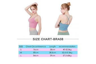 (Bra08/Pink, S) - SKYSPER Padded Sports Bras for Women Yoga Running Jogging Fitness Exercise Compression Bra