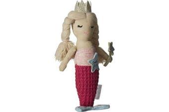 (MERMAID) - Mud Pie Women's Mermaid Tooth Fairy Doll Pink One Size