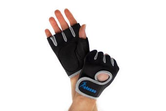 (Grey, L) - Actesso Gym Gloves for Sports – Weight lifting Men & Women, Rowing Exercise, CrossFit Training.