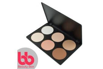 Contour kit, 6 Colours Professional Face Sculpting, Camouflage and Concealing Powder Makeup Blush Palette, By Beauty Bon®