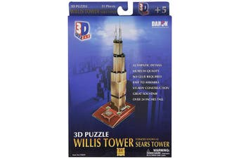 Daron Willis Tower 3D Puzzle, 51-Piece