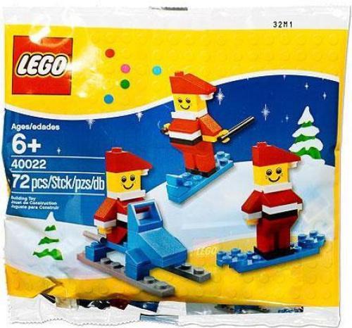 Skiing, Surfboarding, Snowmobile LEGO Seasonal Mini Santa Set Set 40022
