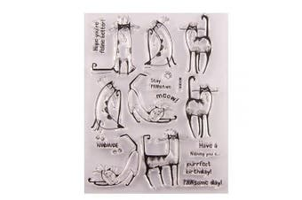 Cute Cat Meow Stamp Rubber Clear Stamp/Seal Scrapbook/Photo Album Decorative Card Making Clear Stamps