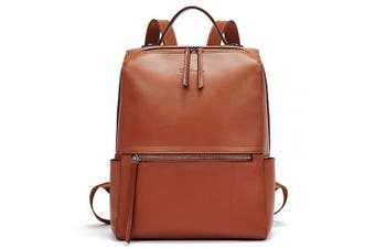 (Brown, Medium) - BOSTANTEN Genuine Leather Backpack Travel Casual Ladies Shoulder Bag Fashion Casual Rucksack Handbag Brown