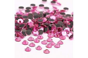 (3mm, Rose) - Beadsland Crystal Hotfix Rhinestone,Machine Cut Stone 1440pcs/pkg (Dk.Pink, 3mm)