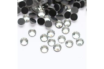(5mm, Crystal) - Beadsland Crystal Hotfix Rhinestone,Machine Cut Stone 288pcs/pkg (Crystal, 5mm)