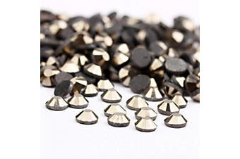 (4mm, Hematite) - Beadsland Crystal Hotfix Rhinestone,Machine Cut Stone 720pcs/pkg (Hematite, 4mm)