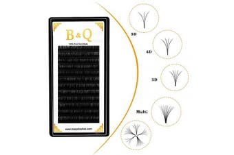 (C-0.03, 12 mm) - Volume Lash Extensions Easy Fan Lashes C/D Curl Flowering Lashes 0.03-0.10mm Automatic Fan Blooming Flower Eyelashes (C-0.03, 12 mm)