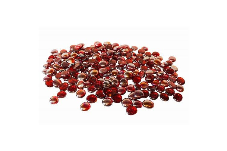 (1kg Red) - homeshop3000 Glass Nuggets 1kg Red (230 pieces)