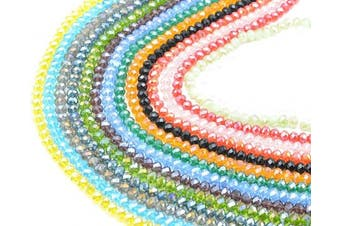 (8mm) - Catotrem 8mm Briollete Rondelle Crystal Glass Beads Faceted Crystal Beads for Jewellery Making Assorted Colour(1050pcs)