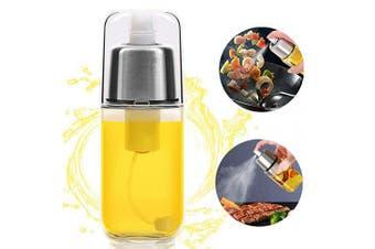 Oil Sprayer Bottle, Kalolary 200ml Oil Mister Spray Bottle Oil Sprayer Dispenser Versatile Glass Olive Oil Bottle for Cooking, BBQ, Vinegar Bottle Glass, Salad, Baking, Roasting, Grilling, Frying