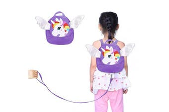 (Purple) - Accmor Kids Harness Backpack Leash, Unicorn Child Anti-Lost Baby Harness Backpack with Leash, Mini Toddler Safety Harness Backpack Leash for Toddlers