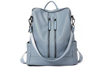 (16-blue) - Women Backpack Purse Leather Fashion Travel Casual Detachable Ladies Shoulder Bag