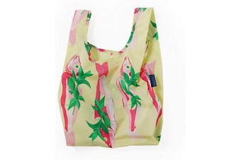 (Whole Fish) - BAGGU Small Reusable Shopping Bag, Ripstop Nylon Grocery Tote or Lunch Bag, Whole Fish