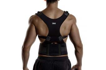 (Large) - Back Brace Posture Corrector Spinal Support for Women and Men, Lumbar Shoulder Posture Correction for Upper and Lower Back Support, Adjustable Neoprene Belt Strap for Relief Back Pain (Large)